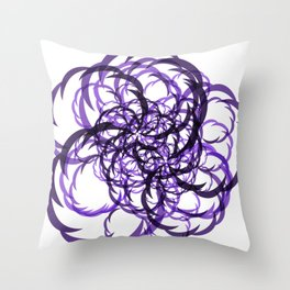 Abstract Magenta Slices Throw Pillow