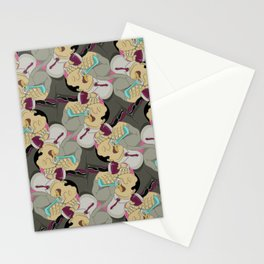 Down the Hatch tessellation Stationery Cards