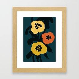 Midnight Flowers Framed Art Print