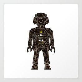 The Playmobil Wicker Man Art Print