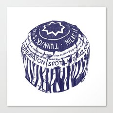 Tea cake (blue) Canvas Print