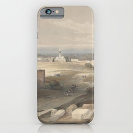 Vintage Print - The Holy Land, Vol 2 (1843) - Sur or Tsor, Ancient Tyre from the Isthmus iPhone Case