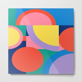Bright Shapes and Colors 56 Metal Print