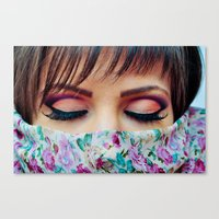 make up Canvas Prints featuring Make Up by Eduard Leasa Photography