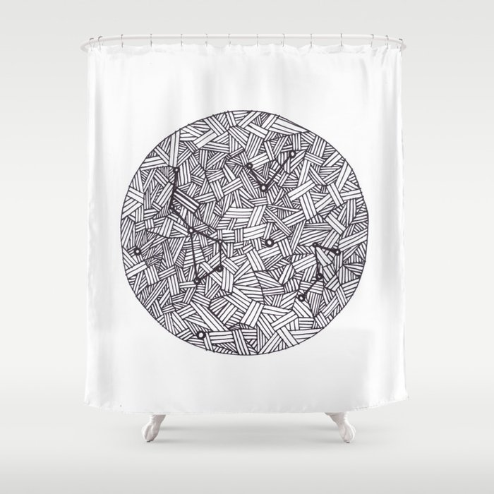 Constellation Shower Curtain By Inkedinred