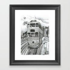 { 未來惑星 } Tramcar Framed Art Print