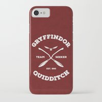 quidditch iPhone & iPod Cases featuring Gryffindor Quidditch by Sharayah Mitchell