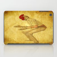 cock iPad Cases featuring Cricket cock by Ganech joe