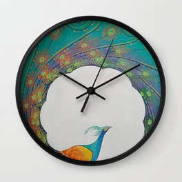 Peacock Modern Art Wall Clock