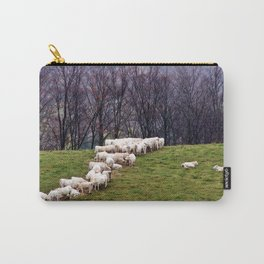 Cattle Eating Hay on a Hill Carry-All Pouch
