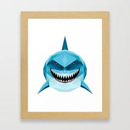 shark blue Framed Art Print