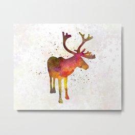 Reindeer 02 in watercolor Metal Print