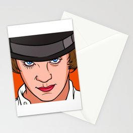 Malcom Mcdowell Orange 2 Stationery Cards