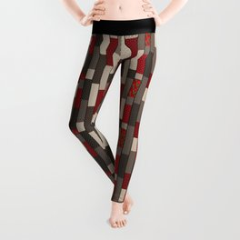Country motifs . Classic quilting. Leggings