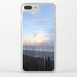 Winter sunrise sky Clear iPhone Case