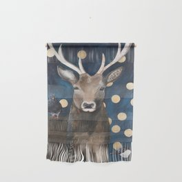 Stag with Tubbs and Goose Wall Hanging
