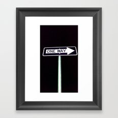 one way Framed Art Print