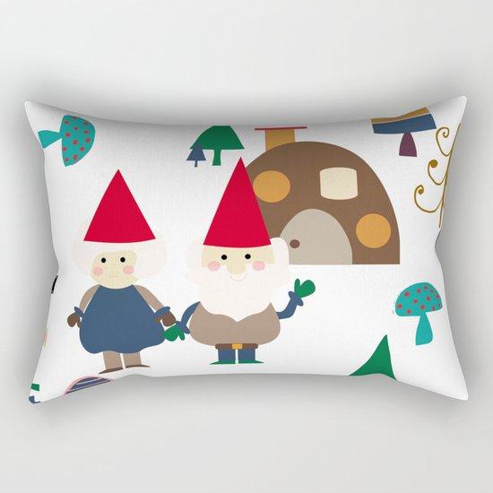 Gnome white Rectangular Pillow
