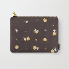 Mix Shiba Pattern on black Carry-All Pouch