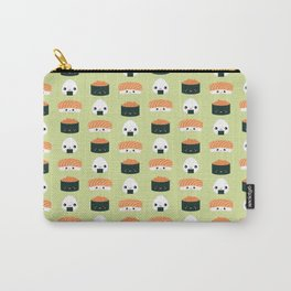 Salmon Dreams in wasabi, large Carry-All Pouch