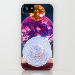 Sunbathing Amongst The Moon And Stars iPhone Case