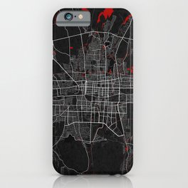 Bishkek City Map of Kyrgyzstan - Oriental iPhone Case