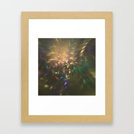 Golden splash Framed Art Print
