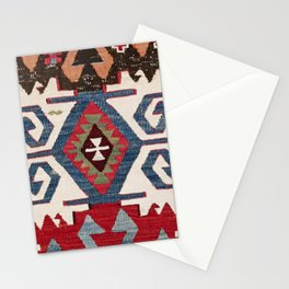 Blue Diamond Arrow Konya // 19th Century Authentic Colorful Cowboy Saddle Accent Pattern Stationery Cards