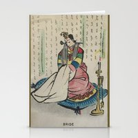 korean Stationery Cards featuring Korean Bride 1952 by Nancy Smith