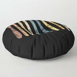 Skiing - Collection of ski boards Floor Pillow