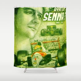 Ayrton Senna Tribute Shower Curtain