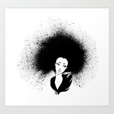 Inky Afro Art Print