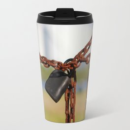 Rusty Chain With Padlock Travel Mug