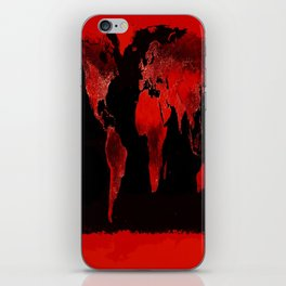 WORLD map : Red iPhone Skin
