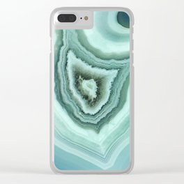 The world of gems - light blue agate Clear iPhone Case