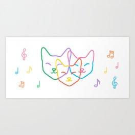 Smiley kats Art Print