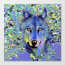 WOLF IN THE GARDEN Canvas Print