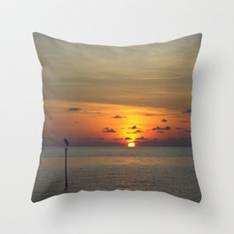 Maldivian Sunset Throw Pillow