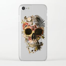Garden Skull Light Clear iPhone Case