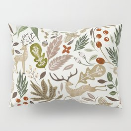 Christmas in the wild nature Pillow Sham