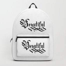 Beautiful Lettering Gothic Backpack