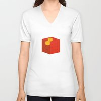 fez V-neck T-shirts featuring PAUSE – A Fez by PAUSE