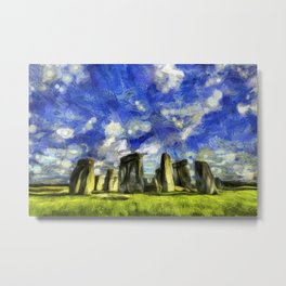 Vincent Van Gogh Stonehenge Metal Print