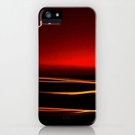 Night Lights Moon and Three Autos iPhone Case