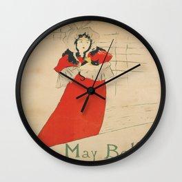 Vintage poster - May Belfort Wall Clock