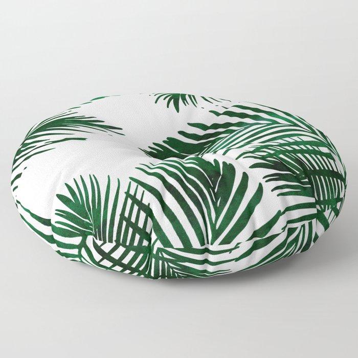 Tropical Palm Leaf Floor Pillow