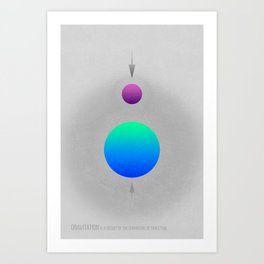 Gravitation - Reprise - Science Series Art Print