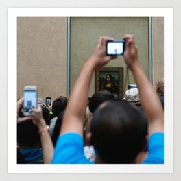 Mona Lisa (Pictures of people taking pictures of priceless works of art with shitty cameras II) Art Print