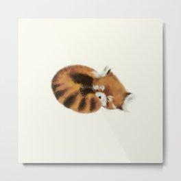 Baby Red Panda (Off-White) Metal Print