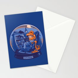 I Love Books and Cats Stationery Cards